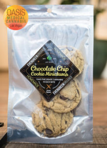evergreen organix cannabis-infused chocolate chip cookies
